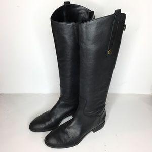 Sam Edelman Sz 6 Black Leather Riding Boots Cute